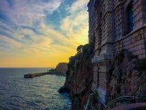 Musée océanographique sur la mer au Monaco Image libre de droits