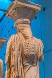 Musée original Ath d'Acropole d'Erechtheion de temple de ruines de cariatides image libre de droits