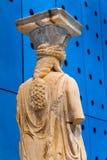 Musée original Ath d'Acropole d'Erechtheion de temple de ruines de cariatides photographie stock libre de droits