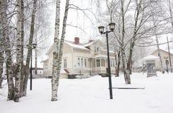 Musée par radio à l'hiver dans Kouvola, Finlande 08 12 2016 images libres de droits