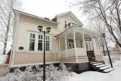 Musée par radio à l'hiver dans Kouvola, Finlande 08 12 2016 image stock
