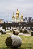 Musée-réservation Peterhof d'église et de parc Images stock