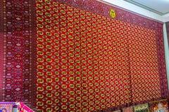 Musée turkmène 04 de tapis d'Achgabat photographie stock libre de droits