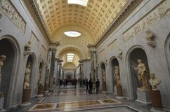 Musées de Vatican, attraction touristique, arcade, voûte, site historique Images stock