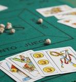 Mus испанская карточная игра стоковые фото
