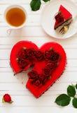 mus czekoladowy tortowa truskawka Zdjęcie Royalty Free