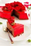 mus czekoladowy tortowa truskawka Obrazy Royalty Free