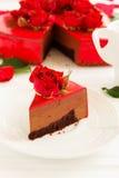 mus czekoladowy tortowa truskawka Fotografia Stock