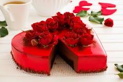 mus czekoladowy tortowa truskawka Obraz Royalty Free