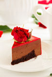 mus czekoladowy tortowa truskawka Zdjęcia Stock