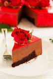 mus czekoladowy tortowa truskawka Zdjęcia Royalty Free