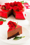 mus czekoladowy tortowa truskawka Fotografia Royalty Free