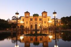 Mus?e des arts populaires de S?ville, Espagne - pavillon Mudejar en parc Maria Luisa photo libre de droits