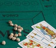 Mus es un juego de tarjeta español stock de ilustración