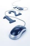 mus för 123 dator Arkivfoton
