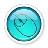 mus för knappdatorsymbol Royaltyfri Bild