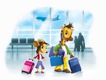 Mus och giraff Royaltyfri Illustrationer