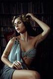 Musa de la muchacha del poeta imagen de archivo libre de regalías
