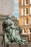 Musa di poesia sul quadrato principale di Cracovia Immagine Stock