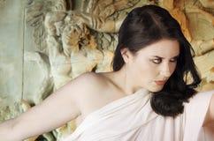 Musa Greek mythology. Female with white veil Royalty Free Stock Photos