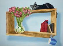 Musa su uno scaffale intrigante Fotografie Stock