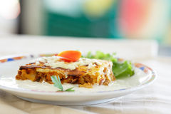 Musaka traditional Bulgarian food Royalty Free Stock Photography