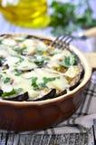 Musaka - traditional dish of greek cuisine. Stock Photo