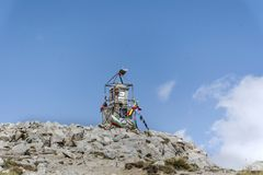 Musala peak  in Rila mountain,Bulgaria Stock Image
