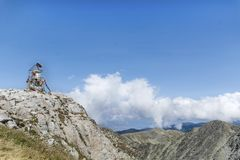 Musala peak  in Rila mountain,Bulgaria Royalty Free Stock Images