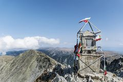 Musala peak  in Rila mountain,Bulgaria Royalty Free Stock Photography