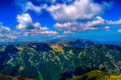 View from the highest peak in the entire Balkan Peninsula, Musala Stock Photography