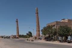 Musalla minarethjärta - Afghanistan royaltyfria foton