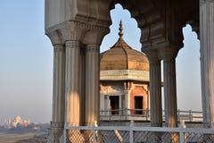 Musamman Burj Czerwony Agra fort Zdjęcie Stock