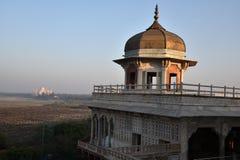 Musamman Burj Czerwony Agra fort Zdjęcie Royalty Free
