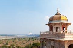 Musamman Burj Czerwony Agra fort Zdjęcia Stock