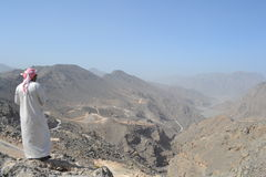Musandam半岛的山 免版税图库摄影