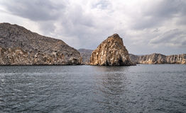 Musandam-Halbinsel in Oman Stockfoto