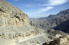 Musandam Oman Hochländer Stockbild
