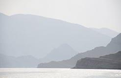 Musandam Peninsula Oman. The fjords of Musandam Peninsula Oman stock photo