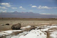 Musardez la La Luna Landscape de vallée ou de Valle De dans le désert d'Atacama Images libres de droits