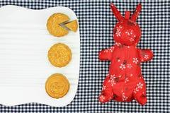 Musardez le gâteau, dessert chinois actuel dans le style moderne de fusion Image stock