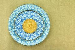 Musardez le gâteau, dessert chinois actuel dans le style moderne de fusion Image libre de droits