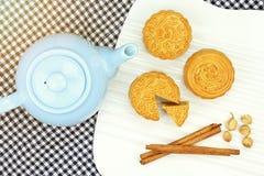Musardez le gâteau, dessert chinois actuel dans le style moderne de fusion Images stock