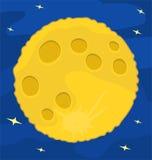 Musardez sur le ciel bleu, conception plate, illustration de vecteur Images stock