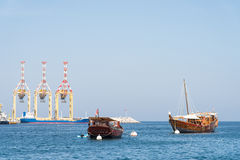 Κλασικά σκάφη Muscat, Ομάν Στοκ φωτογραφία με δικαίωμα ελεύθερης χρήσης