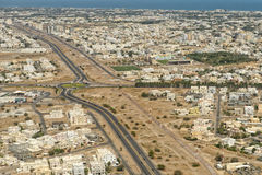 Muscat arabic town aerial view landcape Royalty Free Stock Photo