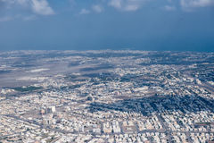 Muscat arabic town aerial view landcape Stock Image