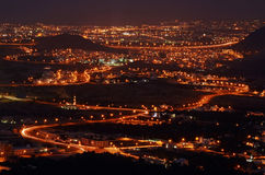Muscat city in the night, Oman Stock Photo