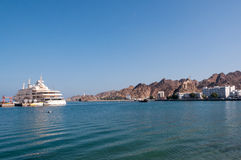 Muscat Corniche, Kreuzschiffankern, Oman Stockbilder