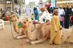 Muscat gata royaltyfri bild